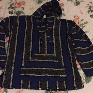 Rug Poncho sweatshirt with pocket